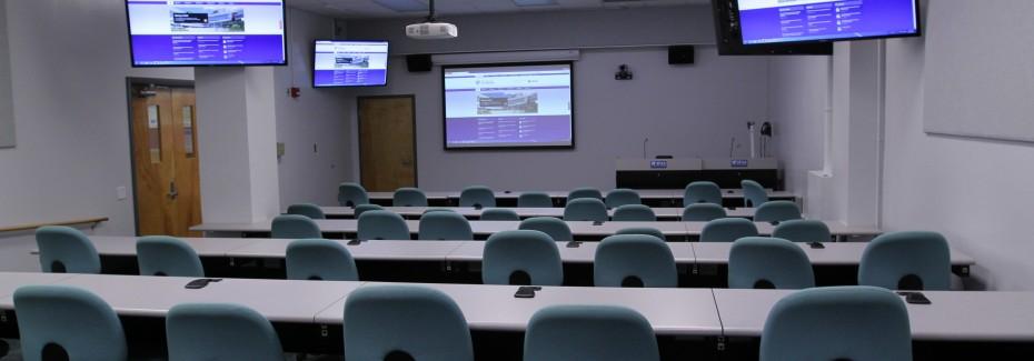 Multipurpose video conferencing classroom.