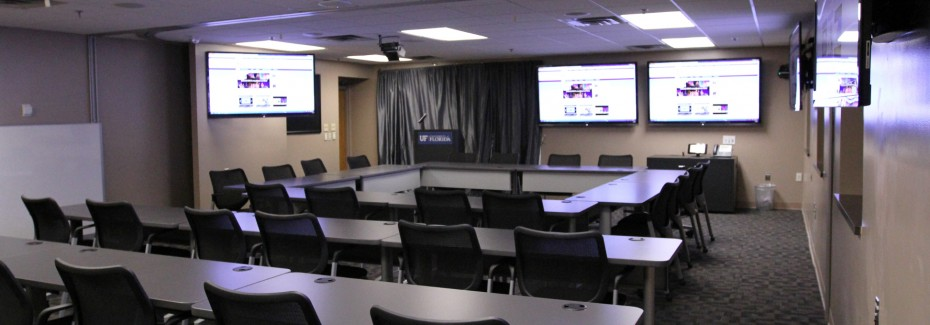 A conference/video recording room for Digital Health and Wellness.